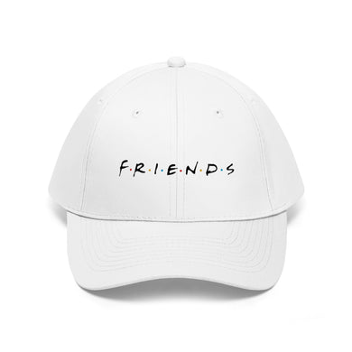 FRIENDS Quotes - Unisex Twill Hat (Black logo)