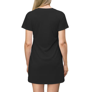 ONLY GOD CAN JUDGE ME - Women's All Over Print T-Shirt Dress (abstract)