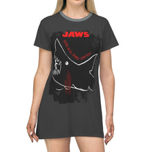 Load image into Gallery viewer, JAWs - The Whole Damn Thing - All Over Print T-Shirt Dress