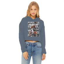 Load image into Gallery viewer, You've Got Red On You! - Ladies Cropped Raw Edge Hoodie