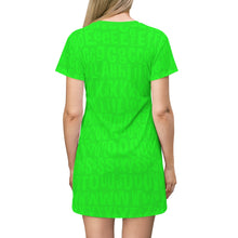 Load image into Gallery viewer, AL4BETTy - All Over Print T-Shirt Dress (Green)