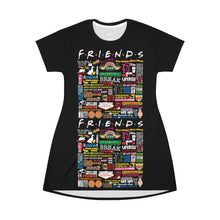 Load image into Gallery viewer, FRIENDs Quotes - All Over Print T-Shirt Dress