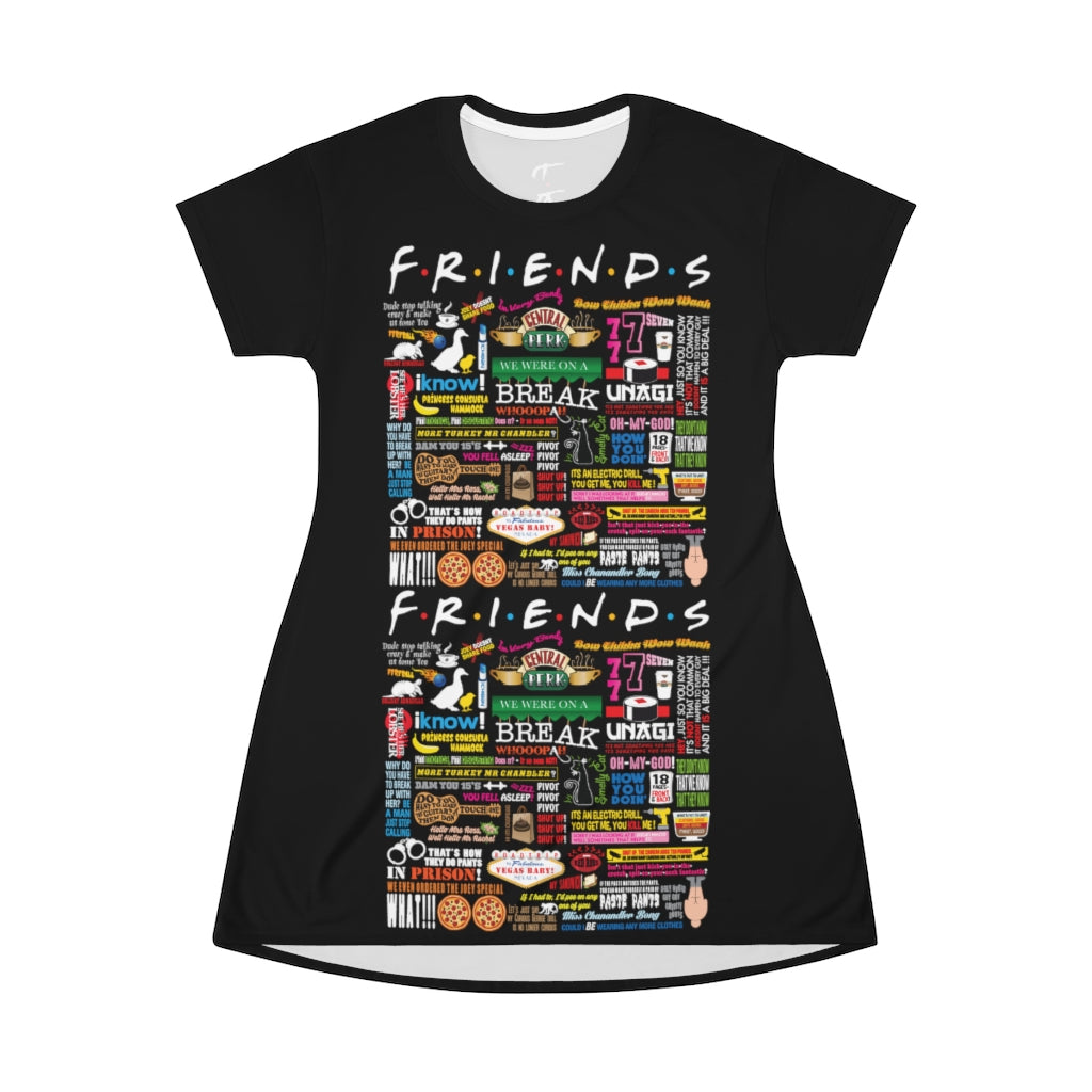 FRIENDs Quotes - All Over Print T-Shirt Dress
