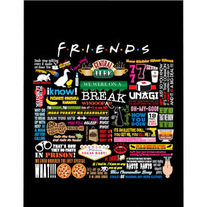 FRIENDs Quotes - Microfiber Duvet Cover
