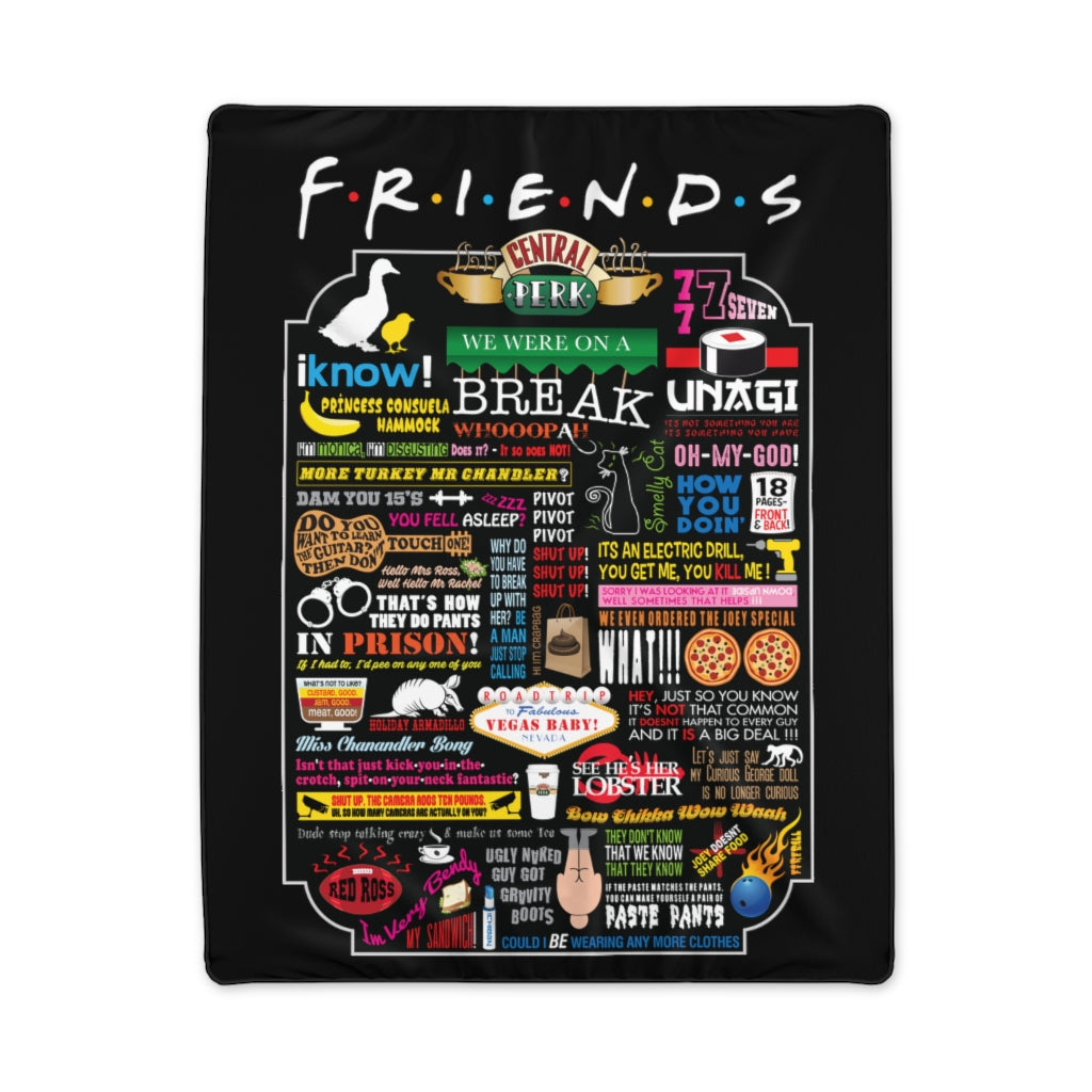 FRIENDs Quotes - Polyester Blanket