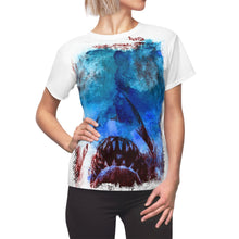Load image into Gallery viewer, JAWs - 'There's something in the water!' | Women's All-Over Print T-Shirt