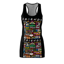 Load image into Gallery viewer, FRIENDs Quotes - Women's Racerback Dress