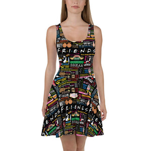 Friends Quotes - Women's Skater Dress