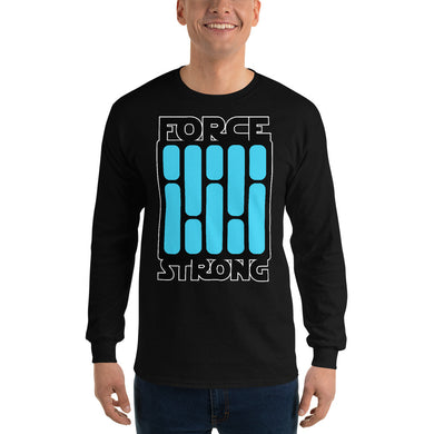 FORCE STRONg - Men's Long Sleeve Shirt (blue)