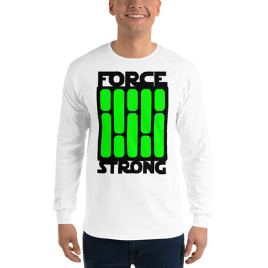 FORCE STRONg - Men's Long Sleeve Shirt (green)