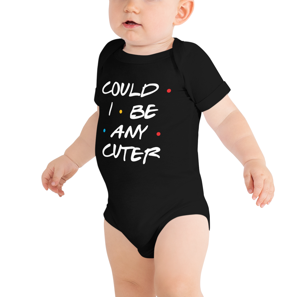 FRIENDS Quotes (Cuter White text) Babygrow