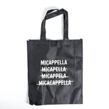 Load image into Gallery viewer, MICappella Tote Bag (Polypropylene, Black)