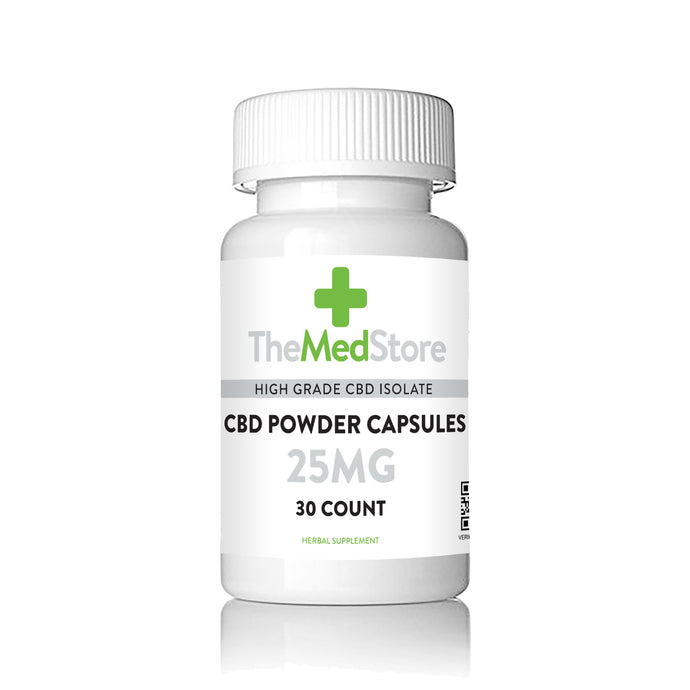 CBD ISO Powder Capsules - 25mg