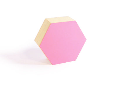 Caja de Madera Hexagonal - Mediana | 135x117x50mm | Flamingo