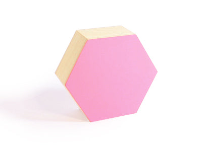 Caja de Madera Hexagonal - Grande | 160x148x65mm | Flamingo