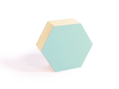 Madera Hexagonal - Mediana | 135x117x50mm | Aqua