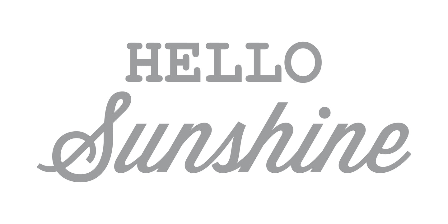 Stickers Hello Sunshine | 27x12,5cm | Plateado
