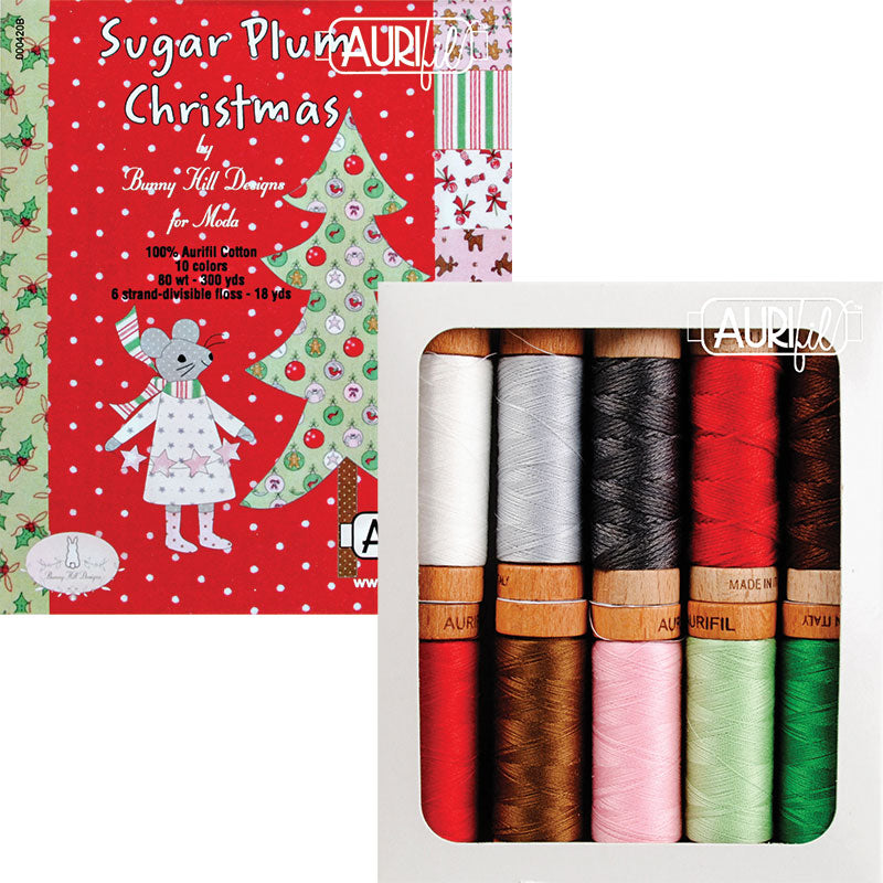 Sugar Plum Christmas Collection Thread set by Aurifil