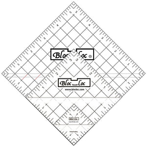 Bloc_Loc Half-Square Triangle Square Up Ruler Set #3