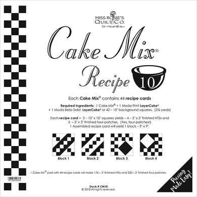 Cake Mix Recipe 10 44ct CM10 Miss Rosie