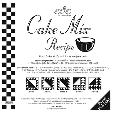 Cake Mix Recipe 11 44ct CM11 Miss Rosie