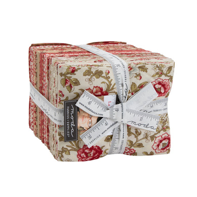 La Rose Rouge Fat Quarter Bundle - by French General - 37 pcs
