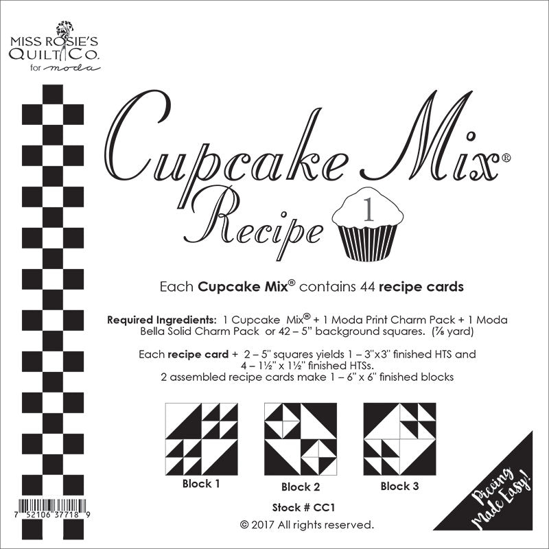 Cupcake Mix Recipe 1 - 44ct CC1 Miss Rosie#1