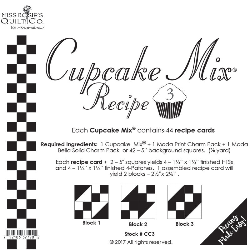 Cupcake Mix Recipe 3 - 44ct CC3 Miss Rosie#1