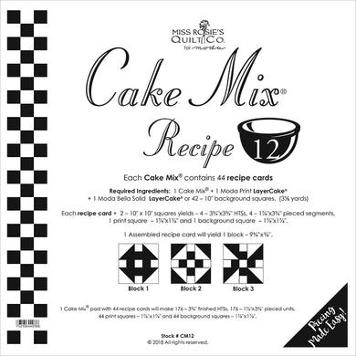 Cake Mix Recipe 12 44ct CM12 Miss Rosie#1