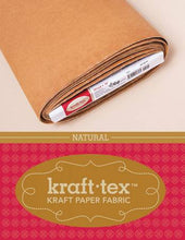 "Load image into Gallery viewer, Kraft-Tex by the Yard - 19"" x 1 yard - Natural"