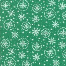 Load image into Gallery viewer, Deck the Halls - Green - Fabric by the Yard