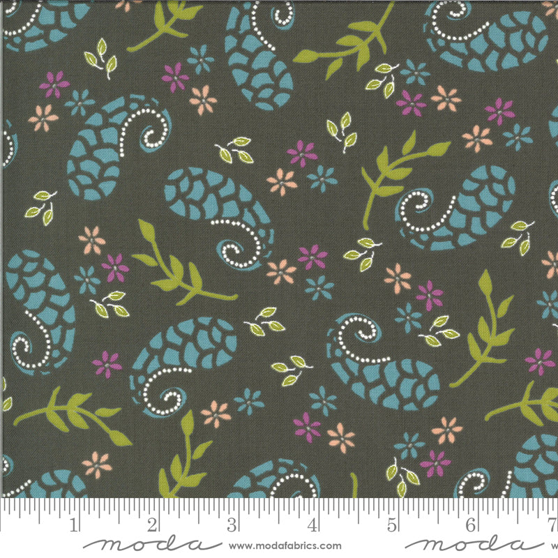 Balboa Marina Charcoal 37592 20 - Fabric by the Yard