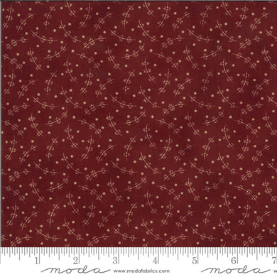 Redwork Gatherings - Dark Red 49112 15 - Fabric by the Yard