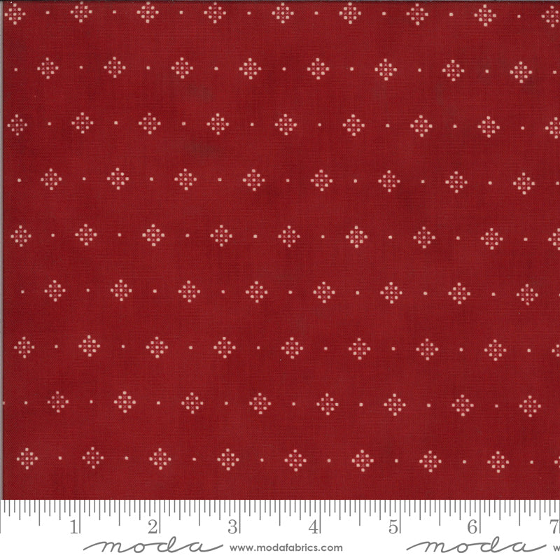 Redwork Gatherings - Red 49118 13 - Fabric by the Yard