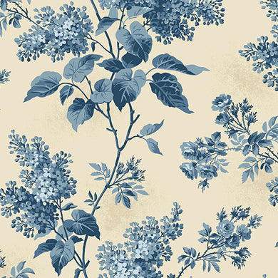 Blue Sky - Lilacs - Beach House 8505-L - Fabric by the Yard