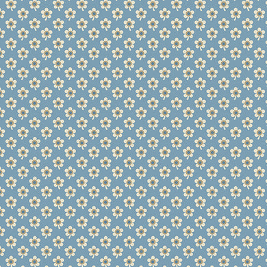 Blue Sky - Daisy - Baltic  A-8510-W - Fabric by the Yard