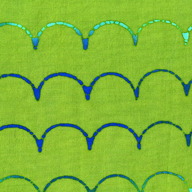 Stitched - Scallop - Turtle  - Fabric by the Yard
