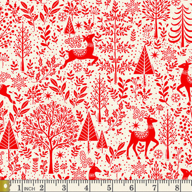 Scandi 2020 - Scenic - Red - by Makower UK - Fabric by the Yard