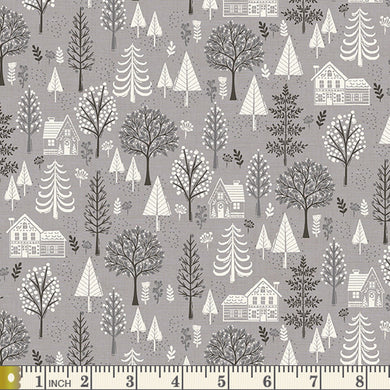 Scandi 2020 - Trees - Grey - by Makower UK - Fabric by the Yard