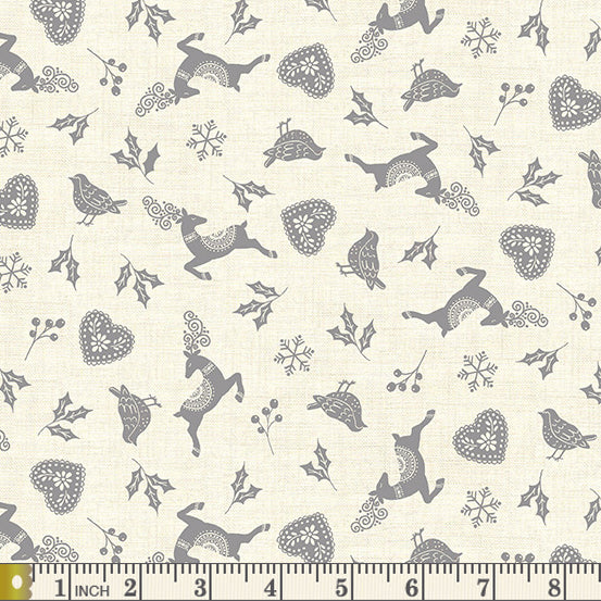 Scandi 2020 -  Icon Scatter - Grey - by Makower UK - Fabric by the Yard
