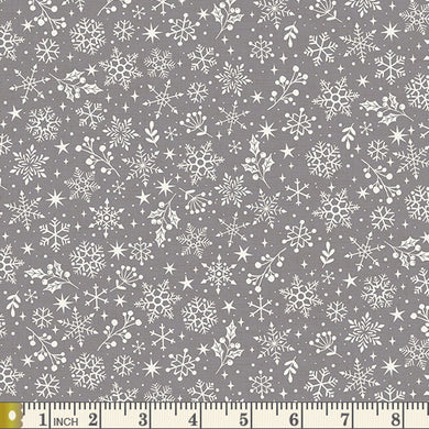 Scandi 2020 -  Snowflakes - Grey - by Makower UK - Fabric by the Yard