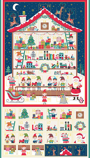 Let It Snow - Santa's Workshop Advent Calendar  - Panel