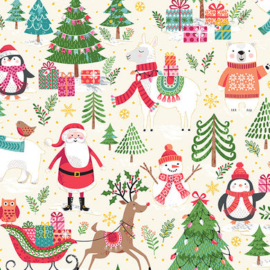 Let It Snow Scenic - Fabric by the Yard