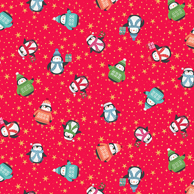 Let It Snow Penguins - Fabric by the Yard