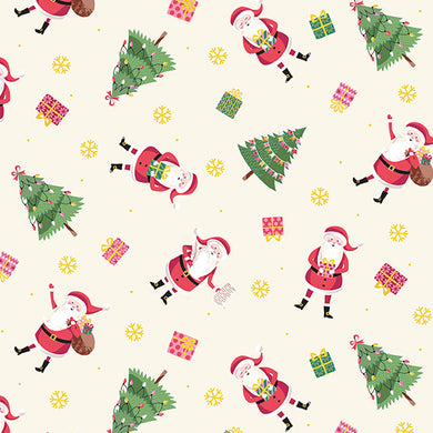 Let It Snow Santa - Fabric by the Yard