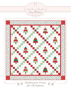 Patchwork Pines For Christmas - Printed Pattern