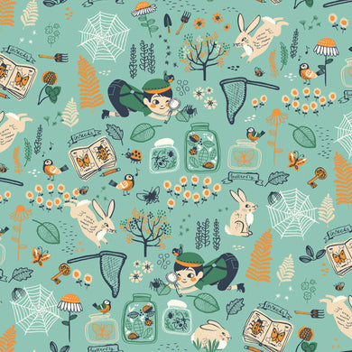 Birch Organics - Hidden Garden - Bug Catcher - Fabric by the Yard