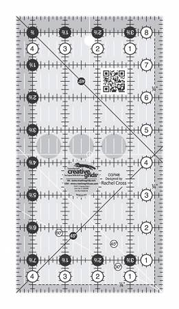 Creative Grids Quilt Ruler 4-1/2in x 8-1/2in