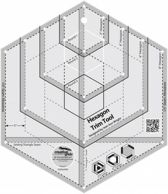 Creative Grids Hexagon Trim Tool Quilt Rule