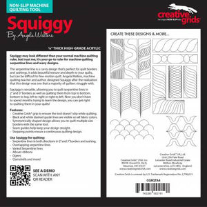 Creative Grids Machine Quilting Tool - Squiggy